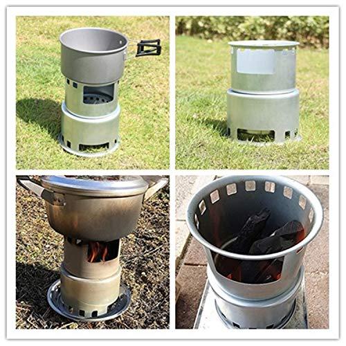 ユーラー焚き火台薪ストーブキャンプミニ型コンロウッドストーブコンパクト多機能メッシュバッグ付き