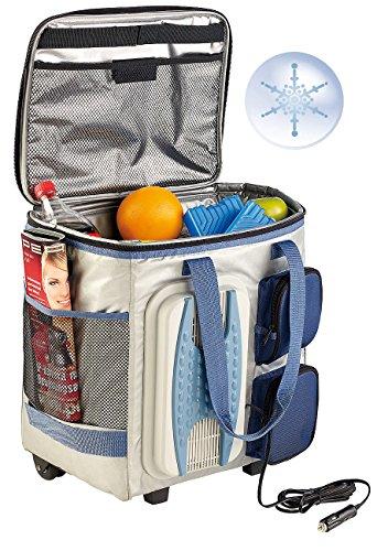 Xcase Kühltasche zum Ziehen: Thermoelektrische Kühltasche mit Trolley-Funktion, 40 Liter, 12 Volt (Kühltasche mit Rollen)