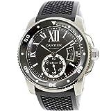 カルティエ Cartier カリブル ドゥ カルティエ ダイバー W7100056 メンズ 腕時計 デイト ブラック 文字盤 自動巻き 【中古】 90095836