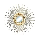 AYYEBO Espejo Pared Sunburst Espejos Decorativos Pared Sun Flower Artesanías Adornos para El Fondo Sala Entrada Hogar (Size...