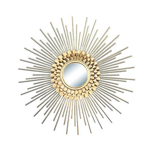 YXYH Casa Baño Espejo Pared Sunburst Espejos Decorativos Pared Sun Flower Artesanías Adornos para El Fondo Sala Entrada Hogar Salón Mirror (Size : 27.5inch)