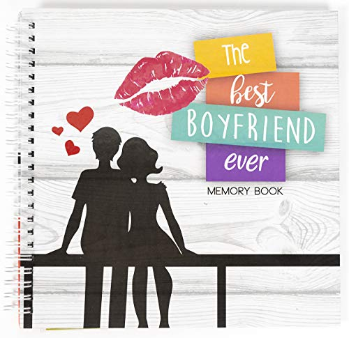 Best Boyfriend Ever Memory Book. The Best Romantic Anniversary Gift Idea for Your Boyfriend. Your BF Will Love This Cute & Unique Present For His Birthday, Valentine