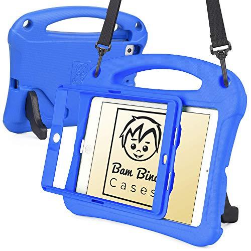 Bam Bino Space Suit [Rugged Kids Case] Child Proof Case for iPad Mini 3, iPad Mini 2, iPad Mini 1 | Protective Cover, Screen Guard, Shoulder Strap (Blue)