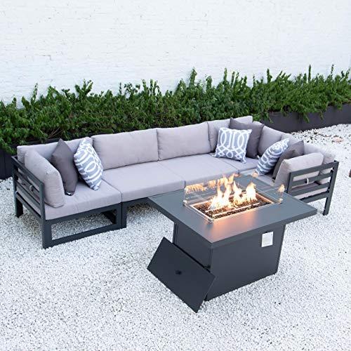Harrier Aluminium Garden Furniture Sets - [Build Your Own] | Build or Extend Your Own Garden Furniture Sets | Patio Furniture - Garden Table and Chairs and Ottomans (Fire Pit Table)
