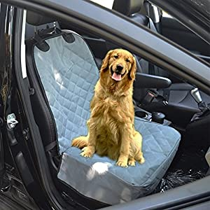 Housse de siège avant pour animaux de compagnie, non glissière Housse de siège d'auto étanche avec ceintures de sécurité