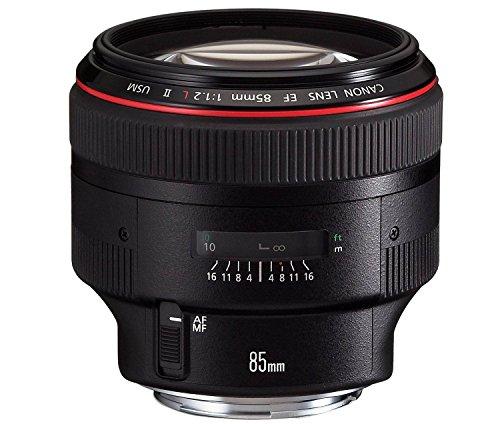 Canon Porträtobjektiv EF 85mm F1.2L II USM für EOS (Festbrennweite, 72 mm Filtergewinde, Autofokus), schwarz