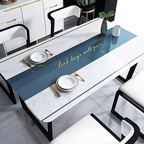 LZYMLG - Tovaglia in PVC, lavabile, rettangolare, impermeabile, resistente all'olio, per cucina, pranzo, tavolo e buffet, 80 x 120 cm
