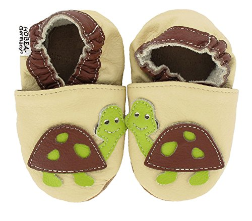 HOBEA-Germany Krabbelschuhe Babyschuhe mit Tieren, Schuhgröße:16/17 (0-6 Monate), Modell Schuhe:Schildkröte