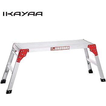 Fesjoy Plegable de Aluminio Plataforma de Trabajo Hop Up Banco de Trabajo Escalera Plegable 225LB Capacidad: Amazon.es: Hogar