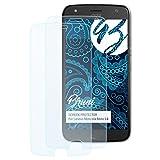 Bruni Schutzfolie kompatibel mit Lenovo Motorola Moto X4 Folie, glasklare Bildschirmschutzfolie (2X)