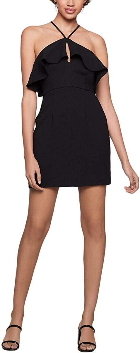 BCBGeneration Women's Asymmetric Ruffle Halter Dress