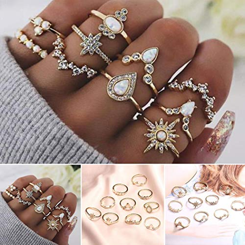 10 PC Diamond Crown Combination Joint Ring Set $3.39 (80% Off with code)
