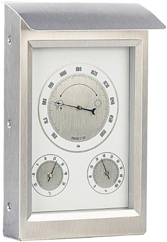 infactory Wetterstation analog: Außenwetterstation mit Hygro- und Barometeranzeige (Thermometer analog)