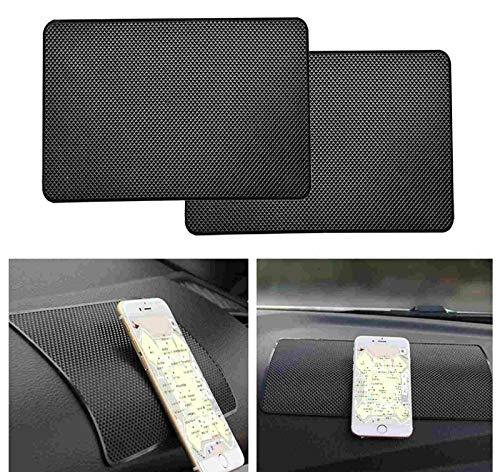 2 X KFZ Halterung Anti Rutsch Matte PVC Handy Anti Rutsch Pad Auto Matte Armaturenbrett Klebrige Pad Klebematte für Handy Sonnenbrille Schlüssel etc (27 x 15 cm)
