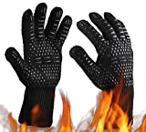 Oven Gloves 932°F Heat Resistant BBQ Gloves Oven Mitts-Cut Resistant Cooking Gloves, Non-Slip Silicone Grill Glovess for BBQ, Grill, Baking, Welding