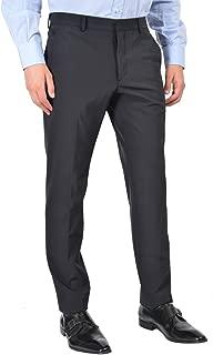 Men's Blue Flat Front Pants US 34 IT 50