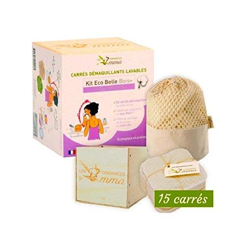 Carré démaquillant lavable en fibre d'Eucalyptus - Kit Eco Belle en boîte - Les Tendances d'Emma