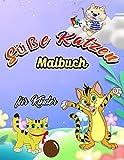 Süße Katzen Malbuch für Kinder: Entzückendes Kätzchen-Malbuch