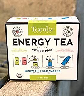 Teatulia Power Pack - 2 Energy Tea Canisters (60 Tea Bags Total)