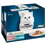 Gourmet Purina Perle Wet Cat Food - Seaside Duo - Nourriture pour chat - 48 Sachets (Lot de 4 de 12 x 85 g)