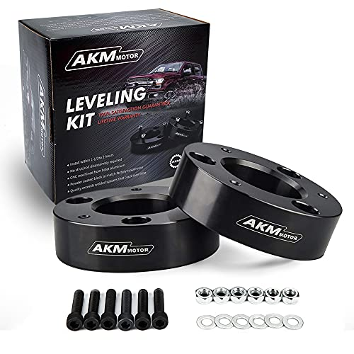 AKM F150 Lift Kit Front 2.5' fit F150 04-20 2WD 4WD Front Strut Spacer Suspension Lift Leveling Kits Lift Spacers(Updated version)