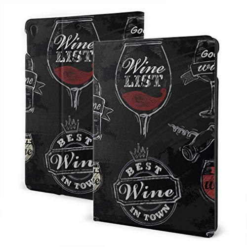 Ipad Case Protector 2019 Ipad Air3/2017 Ipad Pro 10.5 Inch Case/2019 Ipad 7th 10.2 Inch Case Cheers with Two Glasses in Hand Foldable Ipad Cover Auto Wake/Sleep
