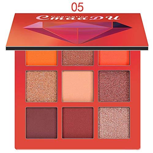ChallengE Ombre à paupières mat cosmétique crème palette de maquillage Shimmer Set 9 couleurs fard à paupières,Eyeshadow - Wet & Dry vegan - Cosmétiques naturels - Make up - Ingrédients