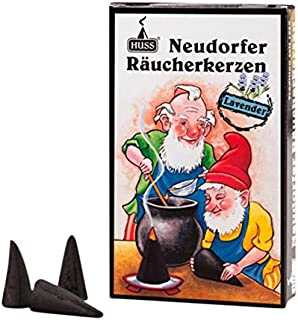 HUSS Incense Cones for German Incense Smoker - Lavender - Eco-Friendly Handmade in Germany