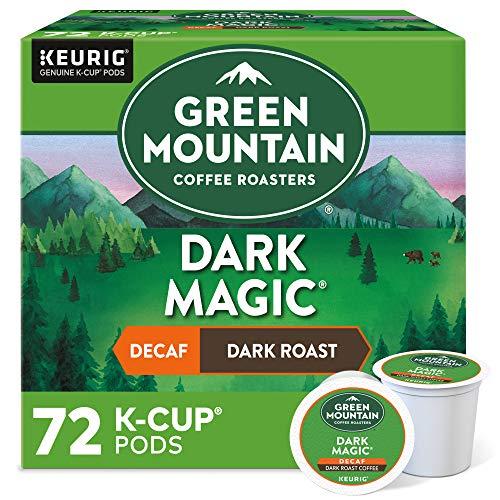 Green Mountain Coffee Roasters Dark Magic Decaf, Single-Serve Keurig K-Cup Pods, Dark Roast Coffee, 72 Count