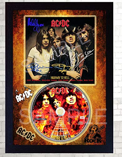 SGH SERVICES ACDC Highway to Hell Music Rock Band Firmado