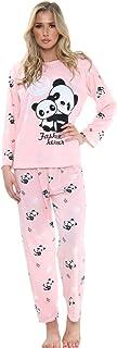 Womens Ex High Street Cotton Pyjama Set Ladies Panda Lounge Wear PJs Nightwear