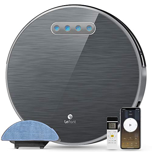 Lefant M571 Robot Vaccum and Mopping,FreeMove Robotic Vacuum 2200Pa Suction Wi-Fi with Alexa and Google,180 Mins Runtime,Self-Charging, Long Life Battery,for Pet Hair, Hard Floor,Medium-Pile Carpets Dining Features Kitchen Robotic Vacuums