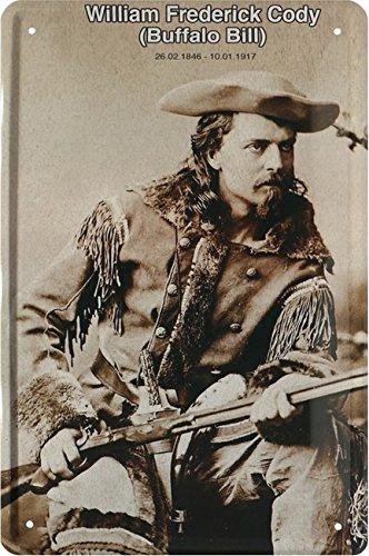 Buffalo Bill–William Frederick Cody Cartel de chapa 20x 30Retro Chapa 1791