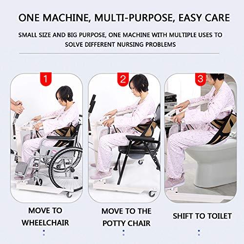 51n62jmGYeL - Gruas para Enfermos, Gruas para Mayores con Vientiane Soundless Wheel, GrúA HidráUlica Patas Ajustables para Pacientes Encamados, Cargar Los Portes 120 Kg