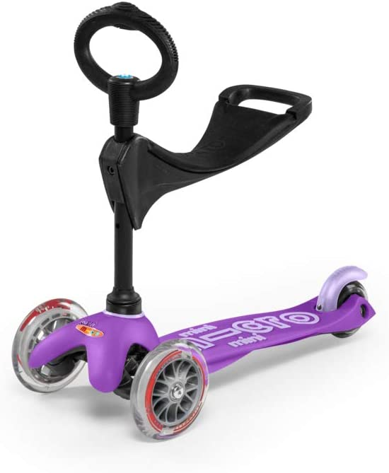 Micro Kickboard - Mini 3in1 Deluxe 3-Stage Ride-on Micro Scooter Toddler Toys for Ages 12 Months to 5 Years