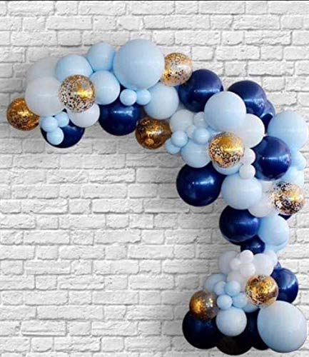 150pcs Set Blue and Navy balloon Garland Kit Boy First Birthday Baby Shower Wedding Shades of Navy Blue Confetti Balloons Arch
