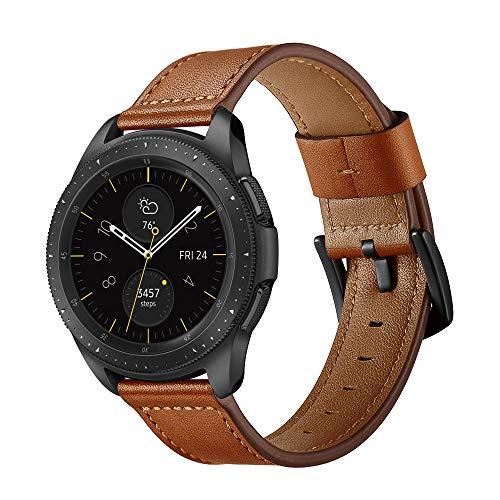 AISPORTS Compatible con Samsung Galaxy Watch 3 Correa de piel de 45 mm para mujeres y hombres, correa de reloj de liberación rápida de 22 mm, correa de repuesto para Samsung Galaxy Watch 46 mm/Gear S3