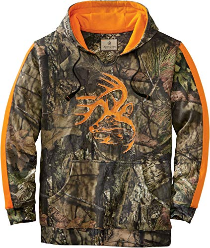 Legendary Whitetails Men's Camo Outfitter Hoodie, Mossy Oak Country, 4X-Large