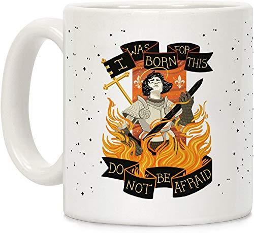 Koffie mok, Thee Beker, Saint Joan van ARC Wit 11 Ounce Keramische Koffiemok
