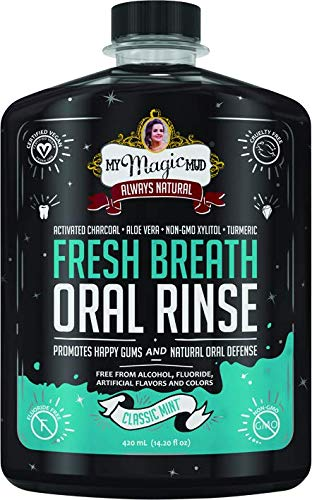 My Magic Mud Activated Charcoal Oral Rinse Classic Mint, 14.2 Oz