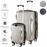 monzana® 2er Set Koffer Boardcase M, XL Gelgriffe TSA USB Reisekoffer Trolley Kofferset