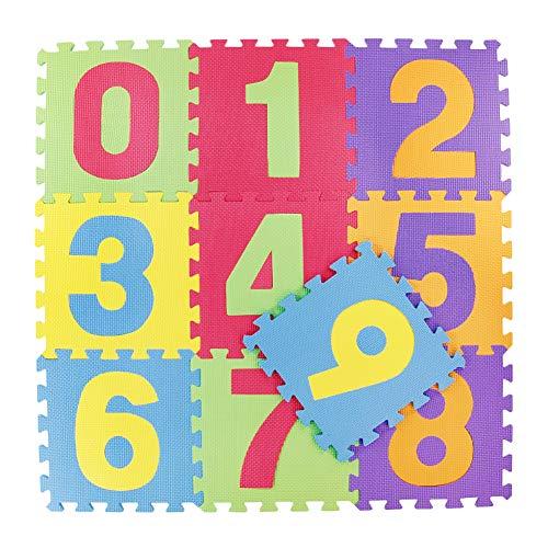 Alfombra Puzzle Infantil Goma Eva Numeros 0 9 Tatami