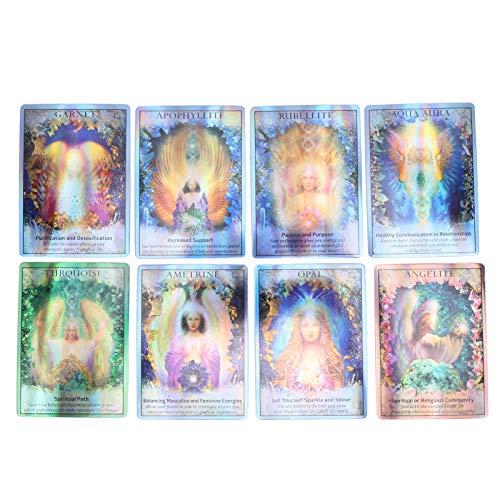 Weiyiroty Exquisite Tarotkarten | Schicksals Wahrsagungskarte | Unbekanntes Tarotdeck Tragbare Schicksalsprognosekarten Wahrsagerei Spielkarten Interaktives Spielspielzeug für Family Friends Party