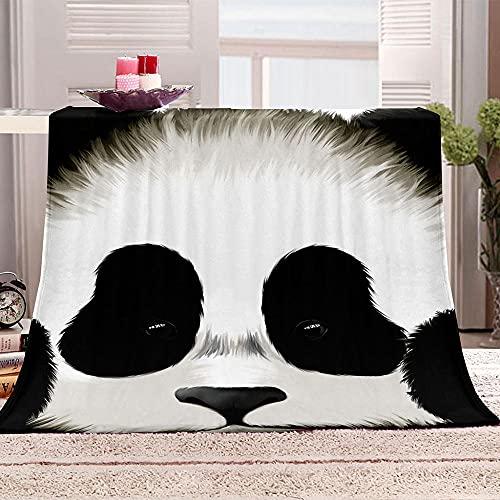 LHUTY Manta de Franela Panda 180x220 cm Viaje Alfombra,Franela Sherpa,Manta De Felpa,Manta De La Siesta,Mantas Ligeras para Tiro, Manta para Cama, Manta para Sofá