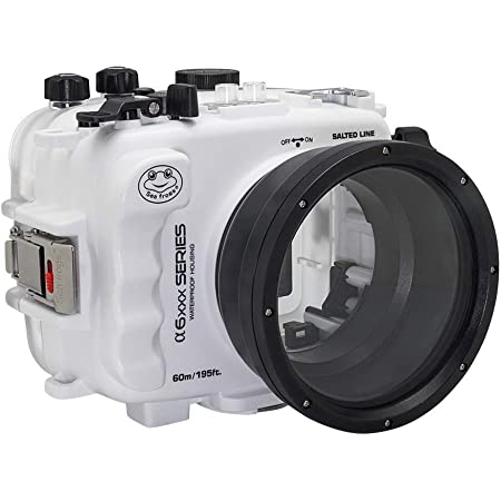 60M/195FT Waterproof housing A6xxx Series Salted Line (White) for Sony a6500 a6400 a6300 a6100 / GEN 3