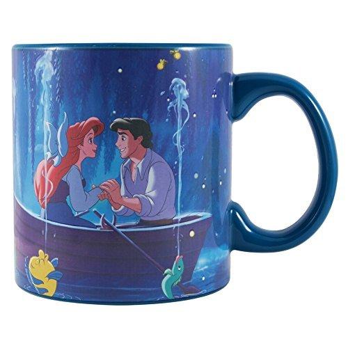 Silver Buffalo DP124834V Disney Princess Ariel Kiss the Girl Heat Reveal Ceramic Mug, 20 oz