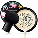 Mushroom Head Air Cushion BB Cream, Concealer Lasting Nude Makeup Moisturizing Brightening Pigment CC Liquid Foundation, Even Skin Tone Makeup Base Primer (Lvory white)