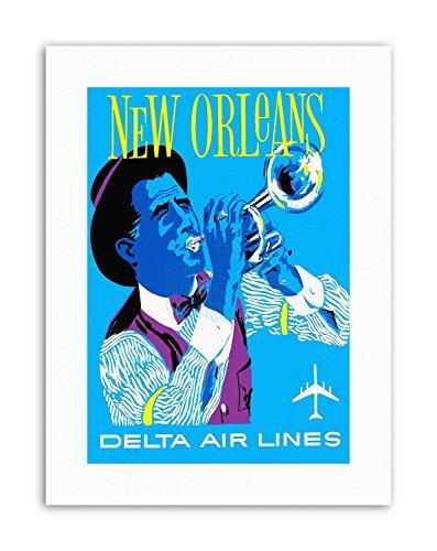 Wee Blue Coo America AIR Line New Orleans Jazz Vintage Travel Canvas Art Prints