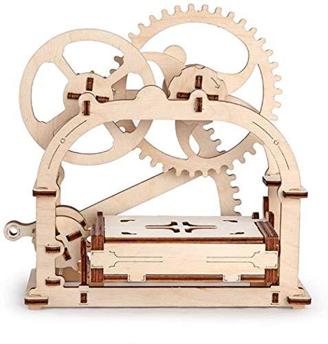 Modelo AUTOMOTRIZ 3D MECÁNICO Etui Caja Rompecabezas DE Madera Conjunto DE ARTESANÍA DE Bricolaje ECOLÓGICO AMISTOSO