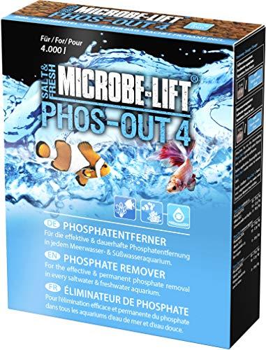 MICROBE-LIFT Phos-Out 4 Filtermedium – Phosphat-Entferner für jedes Meerwasser- & Süßwasseraquarium, entfernt Phosphat, Silikat, Sulfid & Gelbstoffe, auf Eisenhydroxid-Basis, 312g